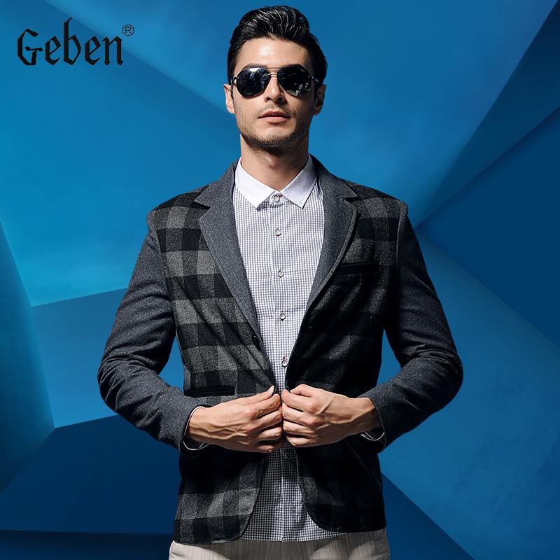 2015 new arrival blazer men casaco masculino men suit pea fashion busniess casual winter warm coat