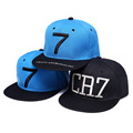 2 Colors Cristiano Ronaldo CR7 Black Blue Baseball Caps hip hop Sports Snapback Football hat chapeu