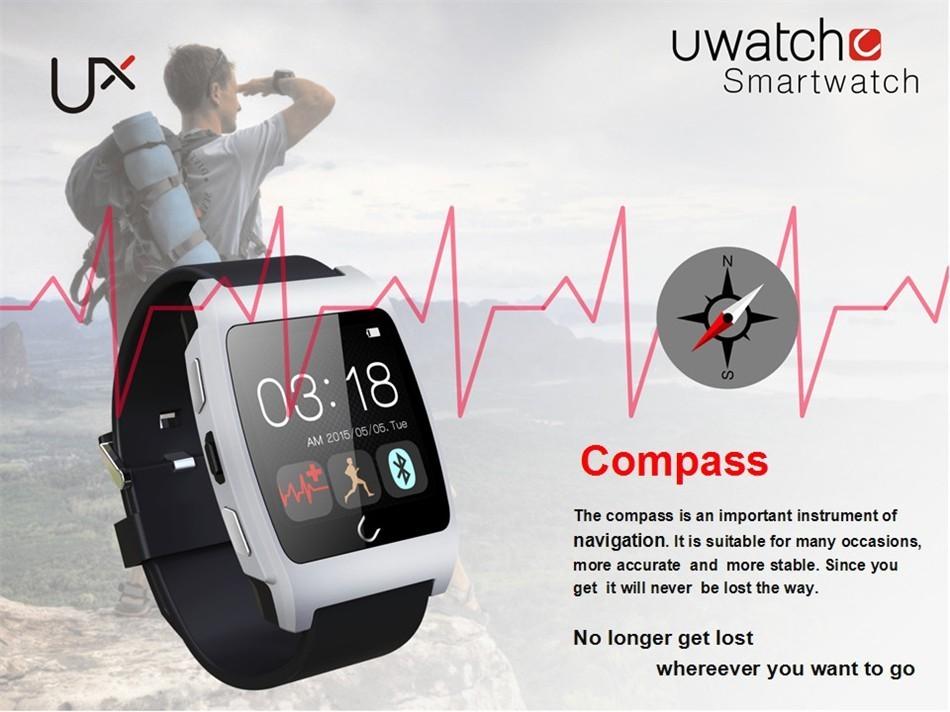 ถูก แบรนด์ใหม่บลูทูธsmart watch u watch uxในตัวอัตราการเต้นหัวใจการตรวจสอบสำหรับa ndroid iphoneการนอนหลับการตรวจสอบการจัดส่งสินค้าฟรี