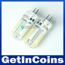 220V/110V SMD 3014 G4 32LEDs 64LEDs 72LEDs 104LEDs LED bulb lamp, Warm white/white SMD 3014 Silicone Bulb Light,free shipping(China (Mainland))