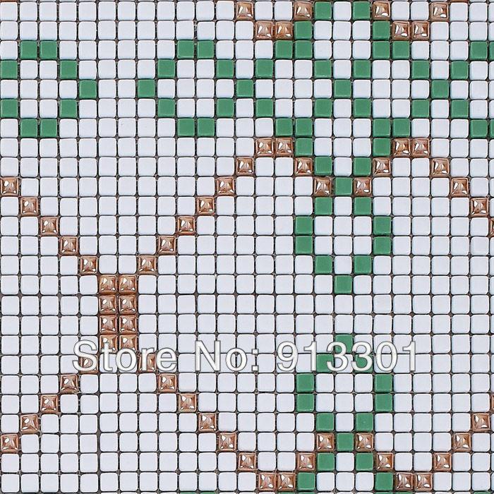 Crystal glass mosaic puzzle kitchen backsplash pattern art wall tile stickers bathroom shower mosaic floor tile surface designs<br><br>Aliexpress