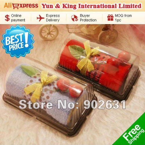 For Promotion~EMS Free Shipping 50pcs Sweet Party Giveaways Gifts With 2 Cherry Top Big Size Swiss Roll birthday gift