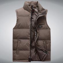 Men's Sleeveless Vest Homme Winter Casual Coats Male Cotton-Padded Men's Warm Vest Photographer Men Waistcoat Plus size 5XL(China)