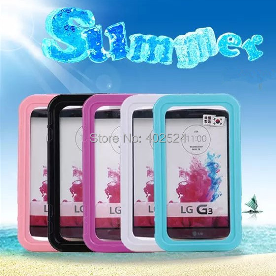 New Waterproof Shockproof Dustproof Underwater Swim Diving Case For LG G3 D855 Underwater Mobile Phone Pouch with Kickstand Bags(China (Mainland))