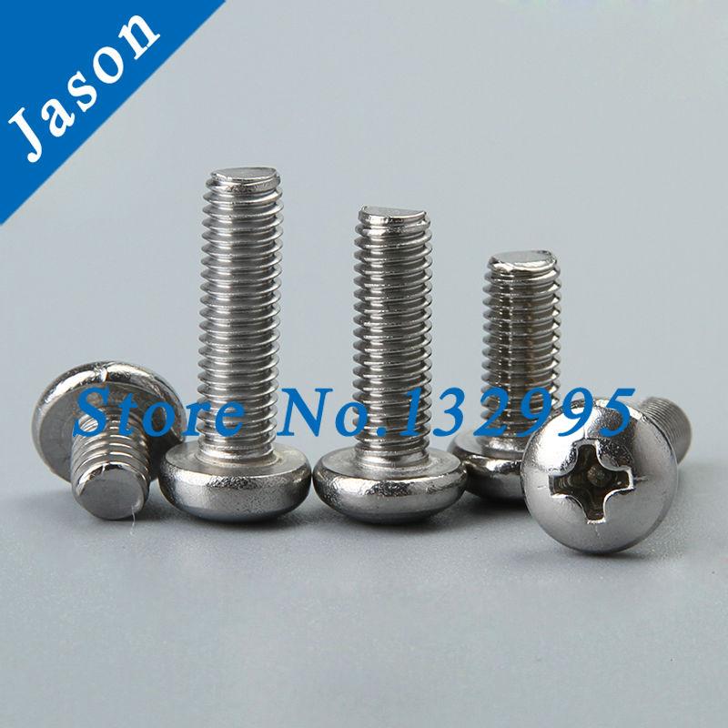 2#-56*7/8  Stainless steel A2 Pan head cross recessed screws  SUS 304 Pan Head Screw 2#*L<br><br>Aliexpress