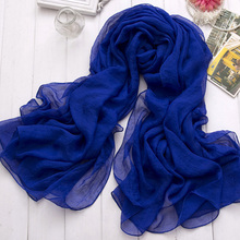 2015 New Hot Women Vintage Long Soft Solid Color Voile Chiffon Scarves Shawl Wrap Large Scarf Feminino Echarpe #73073(China (Mainland))