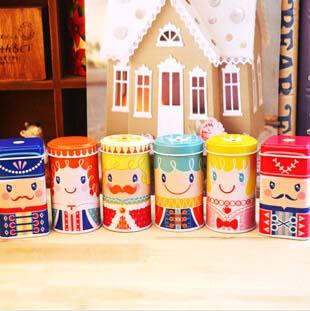 Free ship!1lot=18pc!happy kingdom prince and princess Tea Caddy / tin cans/ Candy iron gift boxes(China (Mainland))