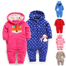 autumn and winter baby clothes baby romper polar fleece newborn clothing infant clothes one piece romper newborn sleepwear