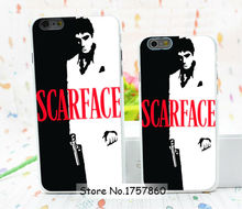 1pcs minimalist movie posters scarface hard white Case for iphone6 (4.7inch) and iphone6 plus(5.5inch) Retail