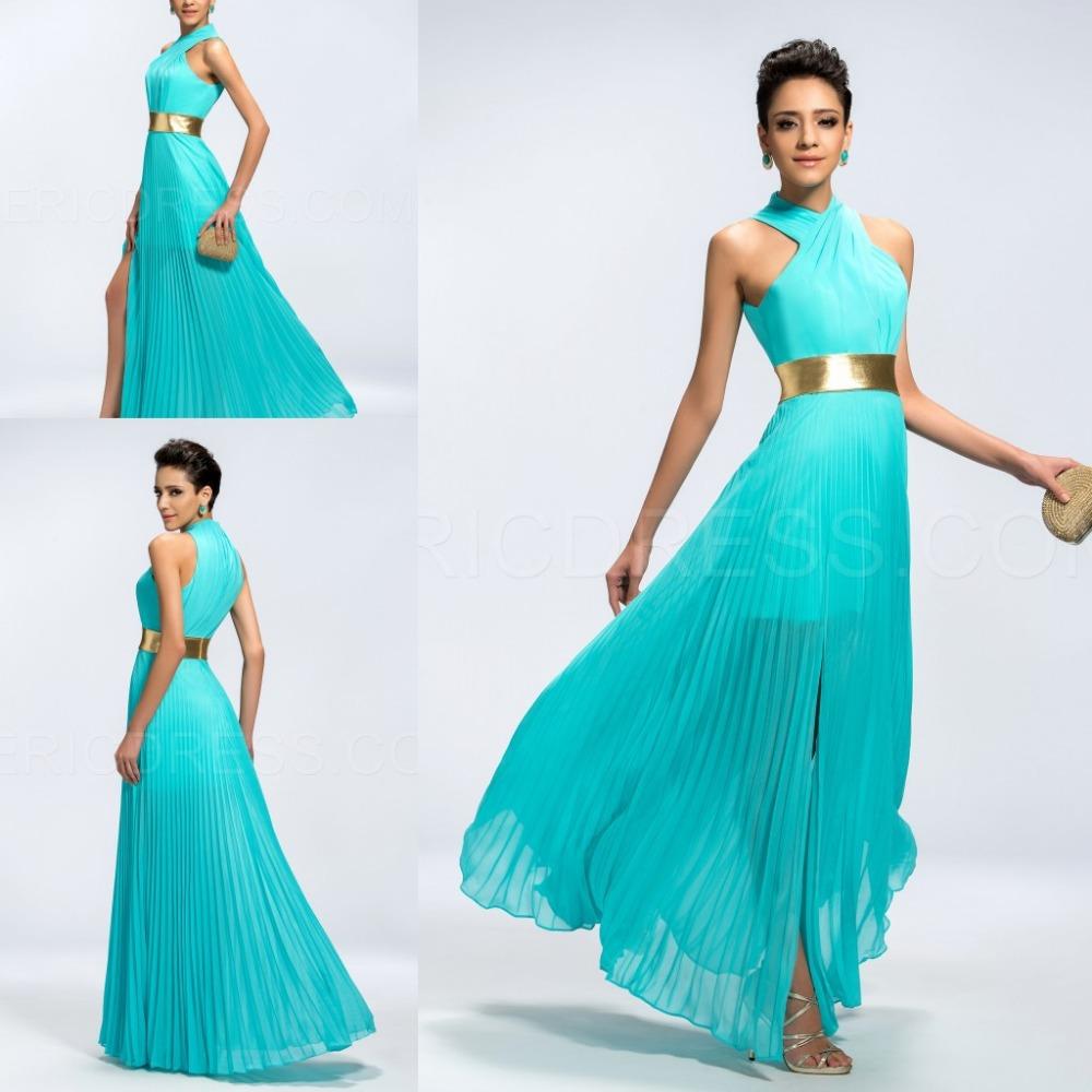 High Collar Leopard Prom Dresses - Long Dresses Online