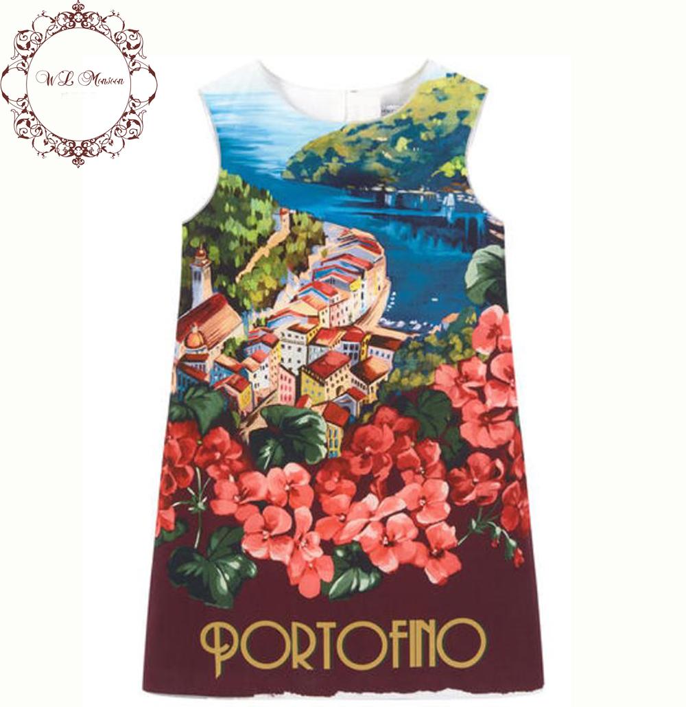 Wlmonsoon Girl Dress 2016 Brand Girls Summer Dress Floral Print Kids Dresses for Girls Clothes Vetement Fille Kids Costume 3-12Y<br><br>Aliexpress