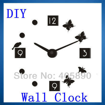 3D Home decor Wall sticker DIY Clock The 2nd Generation Art Wall Clock with Luminous Function