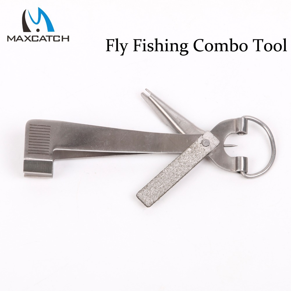 Maxcatch Fly Fishing Combo Tool Fishing Line Clipper Hook Hone Tier Fast Hook Eye Cleaner Fishing Tool Fishing Tackle Box(China (Mainland))