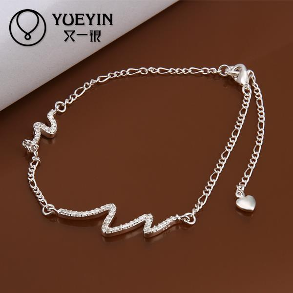 A028 Fashion Crystal silver anklets for women beach foot jewelry chaine cheville barefoot sandals tornozeleira ankle women(China (Mainland))