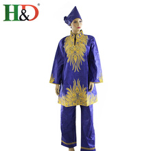 2015 afrikanische Frauen Mode Design Mit Hosen Bazin Riche Hohe Qualität 100% Baumwolle Spezielle Dame Herbst/Frühling/Winter HM68(China (Mainland))