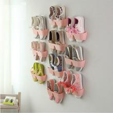 New PP Fashion Creative Shoe Shelf Wall Rack After the Bathroom Door Hanging Shoe Rack Organizer Storage box(China (Mainland))