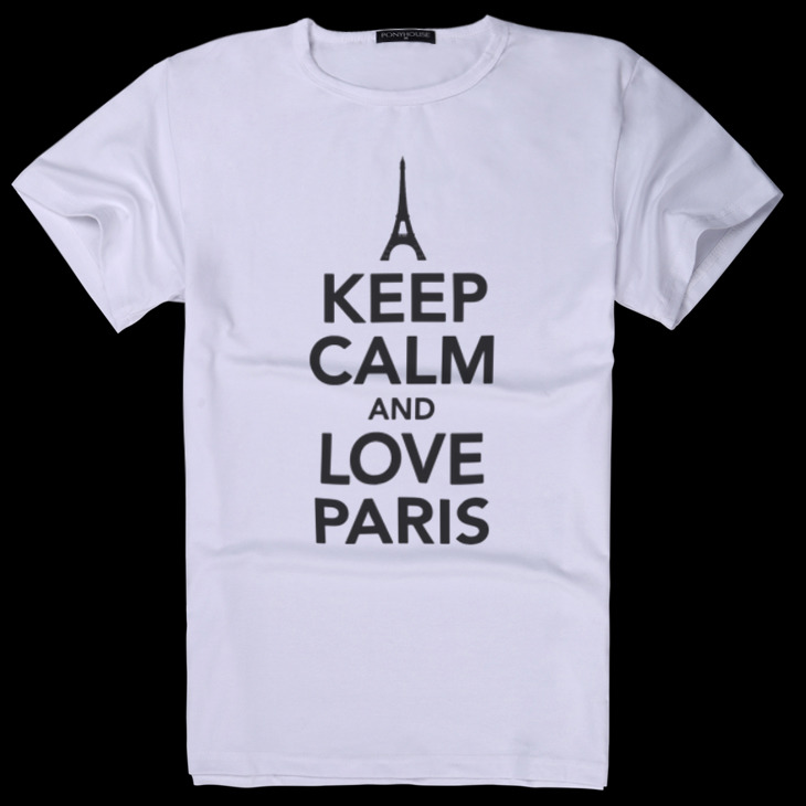 Гаджет  2015I MCW KEEP CALM sent to the leadership of high IQ LOVE PARIS male short sleeved T-shirt None Изготовление под заказ