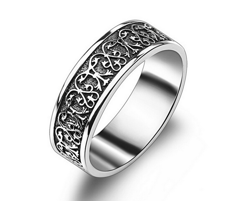 2015 vintage 925 sterling silver ring fashion big