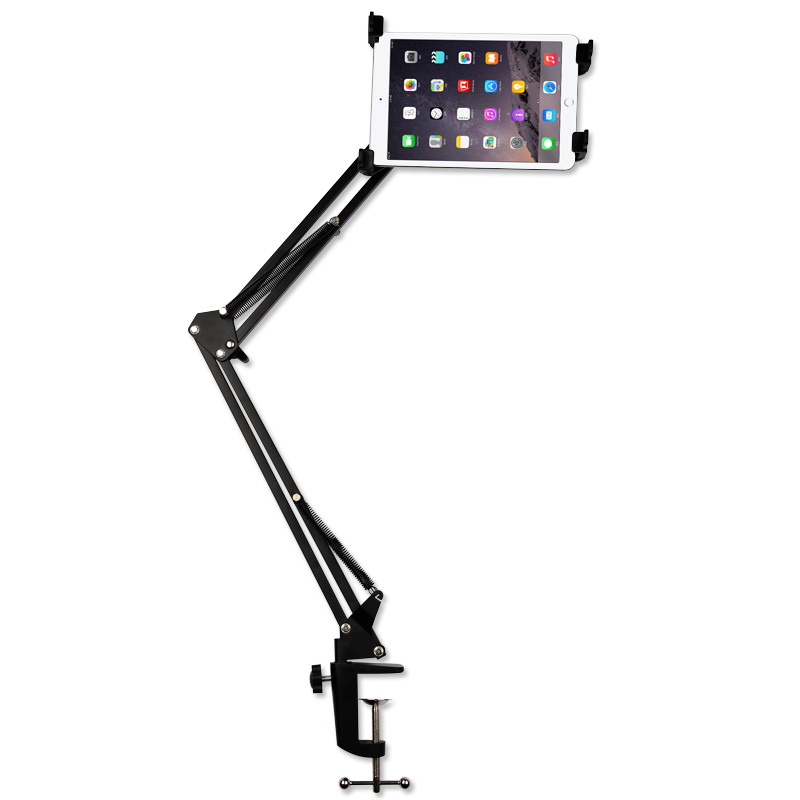"4-12"" Tablet PC GPS Notebook Holder Stand 360 Degree Extend Retract Desk Table Bed Tablet Mount Holder for iPad Mini All Phone(China (Mainland))"