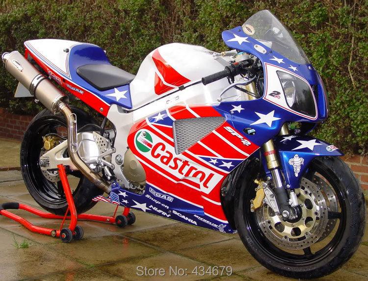 Hot Sales,Castrol Fairings for Honda VTR1000 RC51 2000-2006 ABS Fairing Kit VTR1000 00-06 USA Flag Motorcycle Bodywrk Kit(China (Mainland))