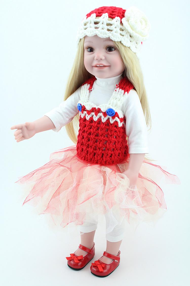 45cm New Vinyl Lifelike Handmade Baby Doll Toys American Girl Dolls Princess Baby Home Doll Babiess Gifts Play House<br><br>Aliexpress