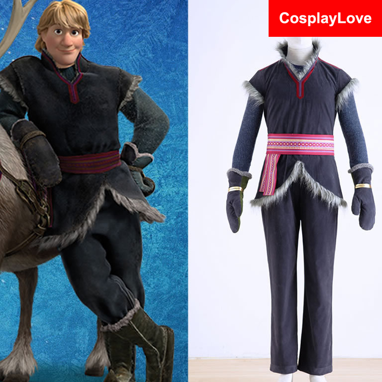 Stock Halloween Costumes For Men Snow Grow Elsa Anna Kristoff Cosplay Costume Cartoon Cosplay Adult Kristoff CostumeОдежда и ак�е��уары<br><br><br>Aliexpress