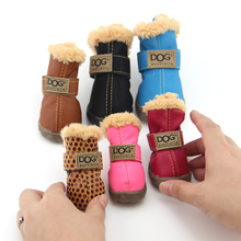 Working Dogs Winter Snow Boots Casual Dog Shoes Pet Shoes for Teddy Bichon Kitten Dachshund Cocker Spaniel Husky German Shepard(China (Mainland))