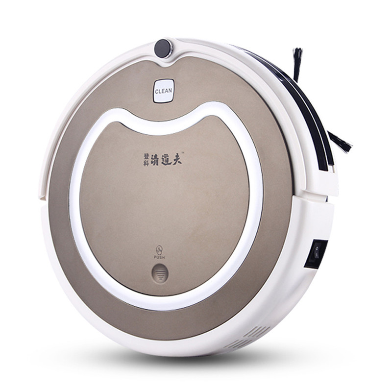 Smart Dry and Wet Sweep Suction Mopping Robot Vacuum Cleaner for Home Auto charging 2 HEPA Filter Robot Cleaner(China (Mainland))