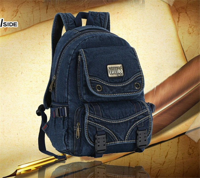 Brand Men's Backpacks Jean Cotton Fashion Women Backpack Top Quality V