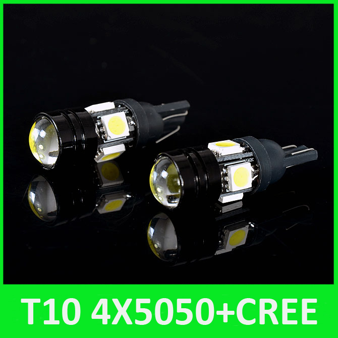 T10 Cree LED W5W LED Car LED 12V 3W Lens Auto Lamp 12V Clearance Light Parking For Ford Focus Cruze Car Styling Free Shipping(China (Mainland))