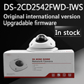 in stock free shipping english version DS 2CD2542FWD IWS Audio 4MP WDR Mini Dome Network Camera