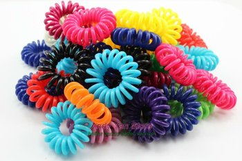 100 pcs per lot small telephone coils, girl women wire elastic hair bands free shipping  H2019