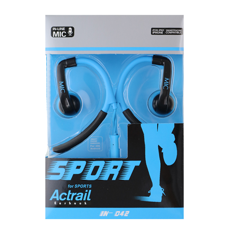 High Quality Stereo sport Headset Earphones handsfree Headphones with Mic 3.5mm Earbuds for All Mobile Phone Tablet MP3 Player(China (Mainland))