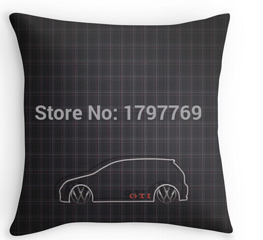 Funny GTI font b Tartan b font two sides Pillow Cases for 12 14 16 18
