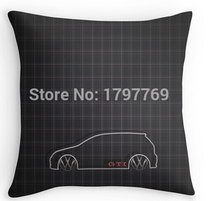 "Funny GTI Tartan (two sides) Pillow Cases for 12 ""14""16""18"" 20""24"" inch free shipping"