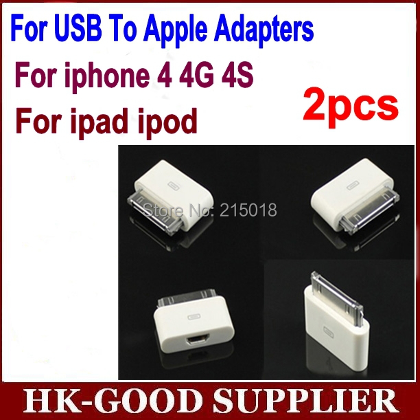 2pcs 8 Pin Female to 30 Pin Male Adapter for iPhone 4S iPad 3 iPod Touch 4 / Free 8pin to 30pin adapter Shipping - White(China (Mainland))