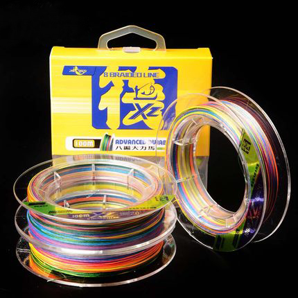 Fishing raft 8 shares 100 meters multicolored Dyneema braided line one meter one color super wear fishing line fishing lures PE<br><br>Aliexpress