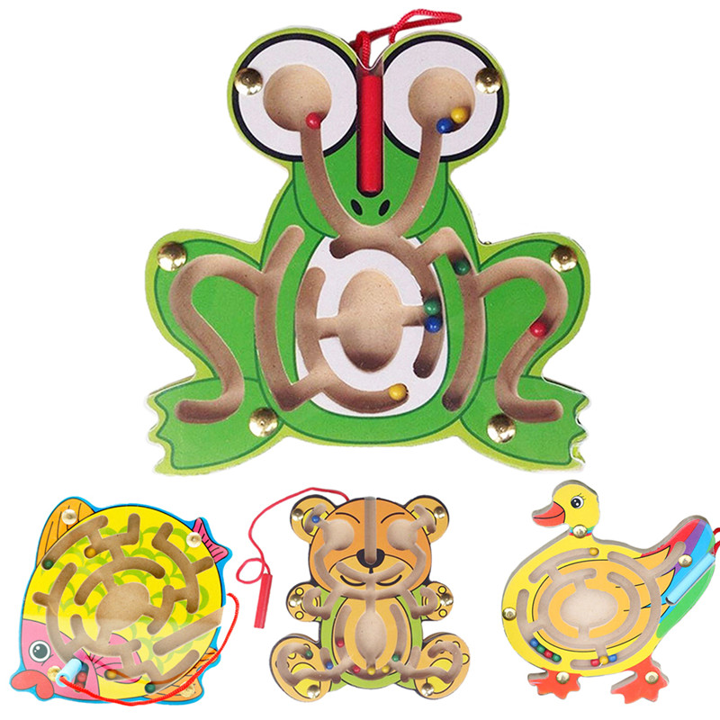 Kids Wooden Animal Puzzle Early Educational Learning Toys Intellectual Game Free Shipping(China (Mainland))