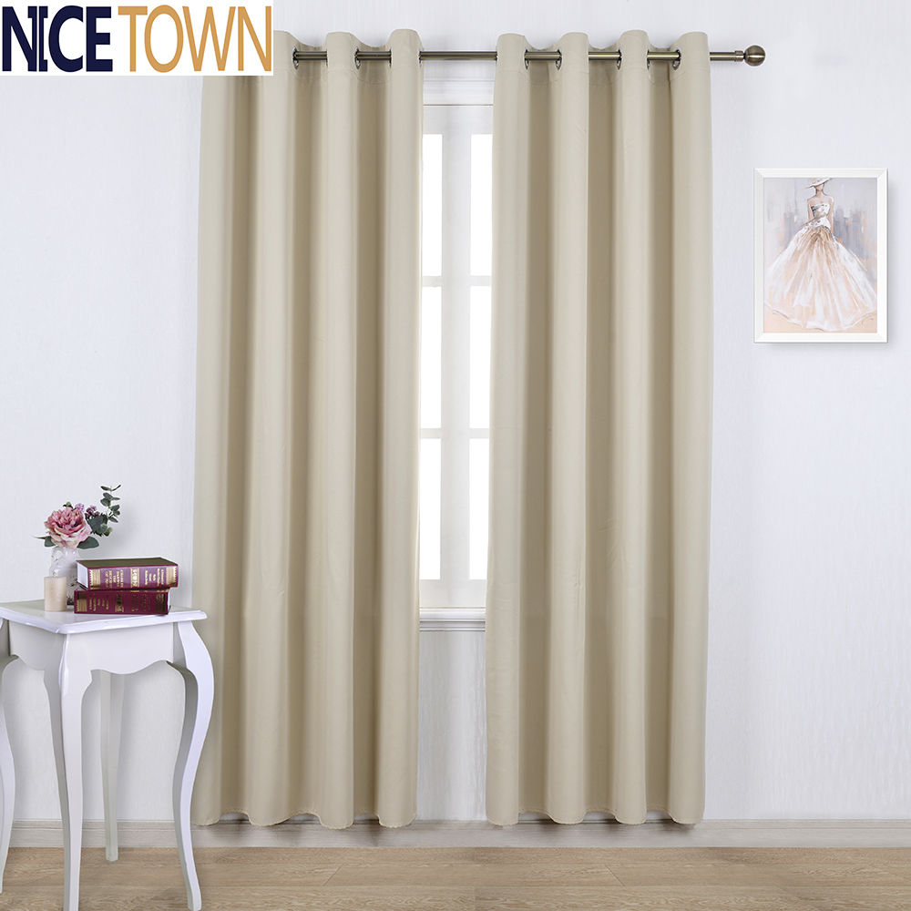 Blackout Curtain for Living Room Bedroom Kitchen Thermal Insulated Ready Made Grommet / Rod Pocket / Ajustable Hook / Tab Top(China (Mainland))