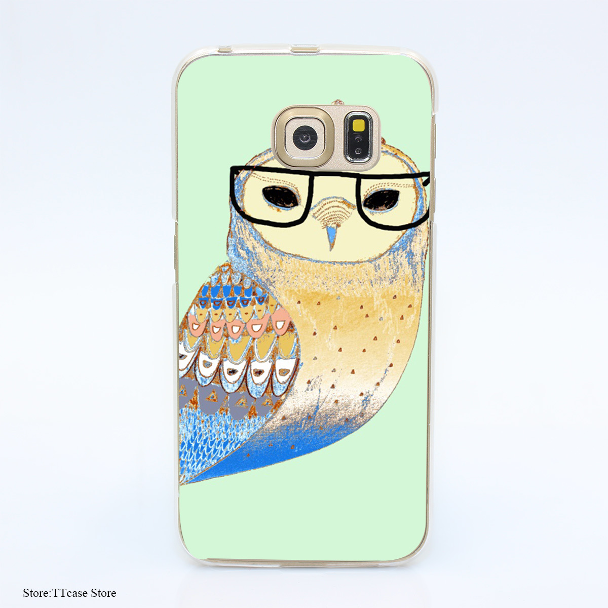 3058G Snowy Owl H4a Print Hard Transparent Case Cover for Galaxy S3 S4 S5 & Mini S6 S7 & edge