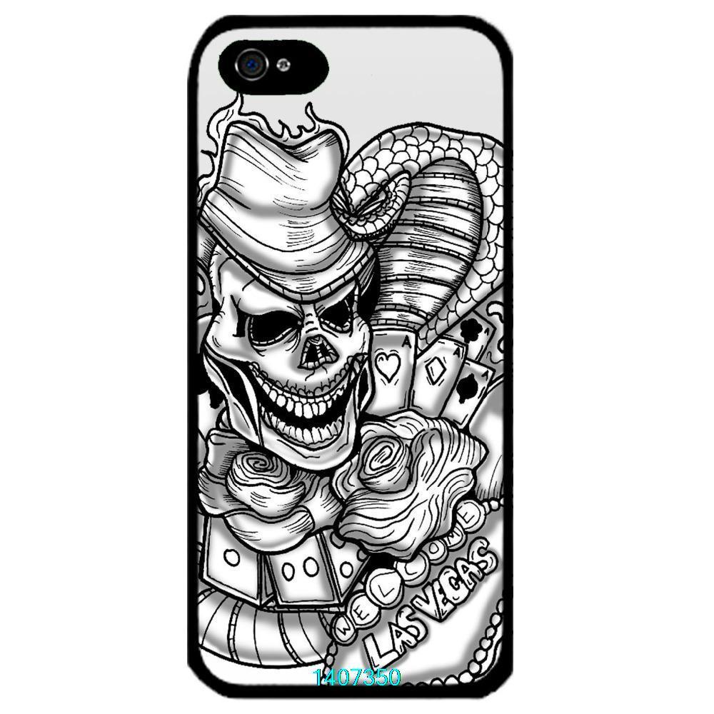 Jiahh designed skull gambling tattoo las vegas rose for Tattoo artist iphone cases