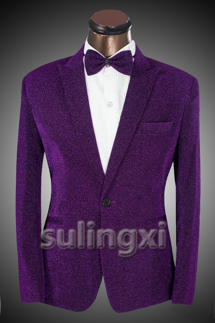 New Men Suits Casual Brand Mens Slim Fit Purple Suit Jacket 2015 Spring Fashion Prom Mens
