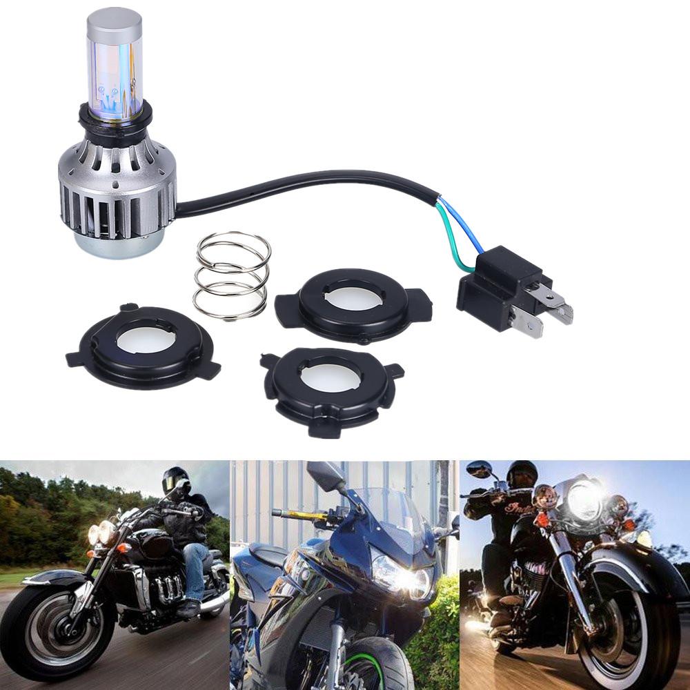Plug Play H4 Ba20d Led Headlight Bulb High Low Beam Hi Lo Motorcycle 3000lm 6000K Headlamp Turbo Motos Accessories For Harley(China (Mainland))