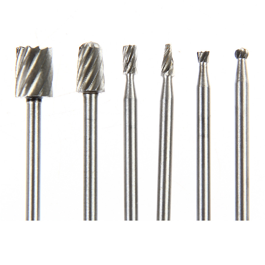 6pcs Rotary tool mini drill bit set cutting tools forwood carving tools kit Free shipping(China (Mainland))