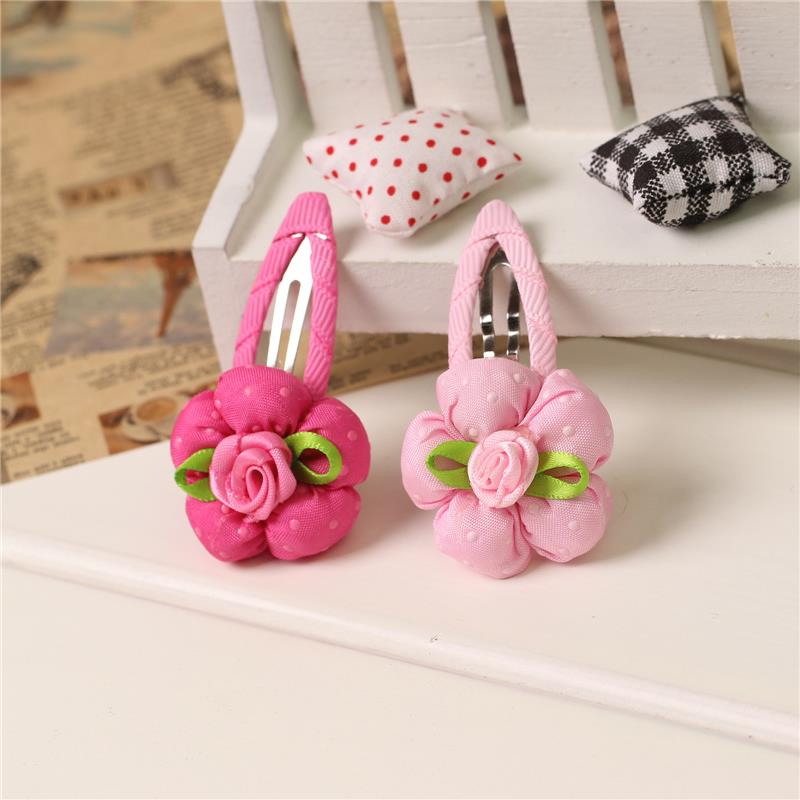 1 Piece 2016 New Style Two Colors Rose Flower Baby Girl Hair Accessories Children Hair Elastic Infant Hairgrips Kids Hair Clip(China (Mainland))
