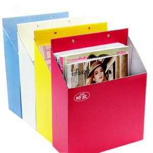 2pcs/lot 2014 paper promotion organizer boxes caixa can hang type diy storage box book magazine multicolour finishing nx0490(China (Mainland))