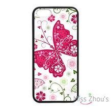 For iphone 4/4s 5/5s 5c SE 6/6s plus ipod touch 4/5/6 back skins mobile cellphone cases cover Butterfly Paisley