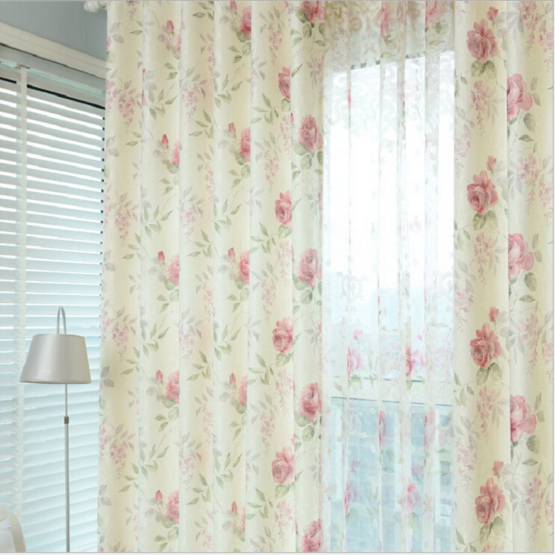 rustic door curtain yarn tulle curtain living room floral sheer curtain fashion home decorative door curtain yarn DS030#20(China (Mainland))