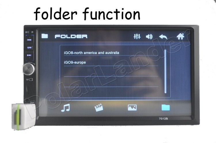 "7"" Inch Double 2 Din Car Radio Mp5 Mp4 Bluetooth Audio Radio Stereo steering wheel contrl FM/USB/TF touch screen for rear camera"