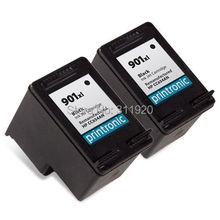2Pcs For HP 901 Ink Cartridge 901XL For HP OfficeJet 4500 J4580 J4550 J4540 J4680 J4535 J4585 J4624 J4660 Printer
